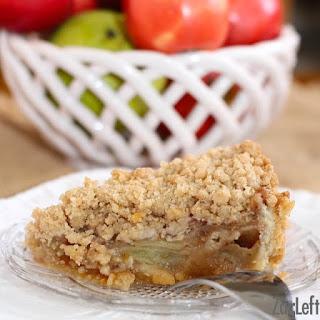 Caramel Apple Pie With Cookie Dough Crust.