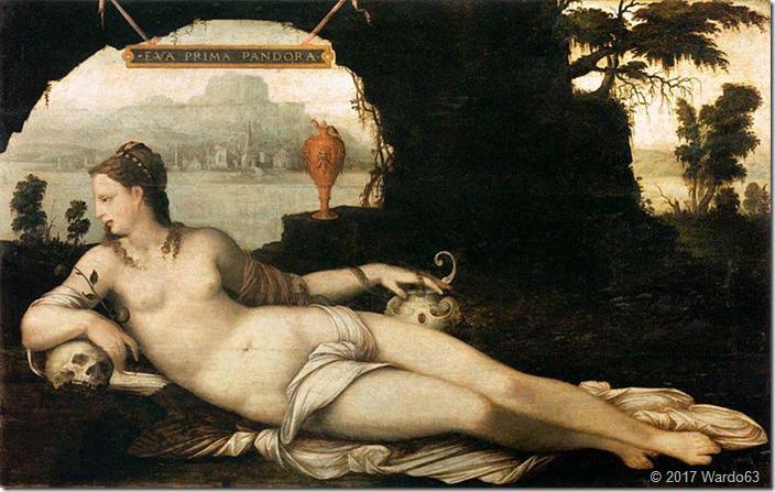 EVA PRIMA PANDORA. 1550. MUSEO DEL LOUVRE
