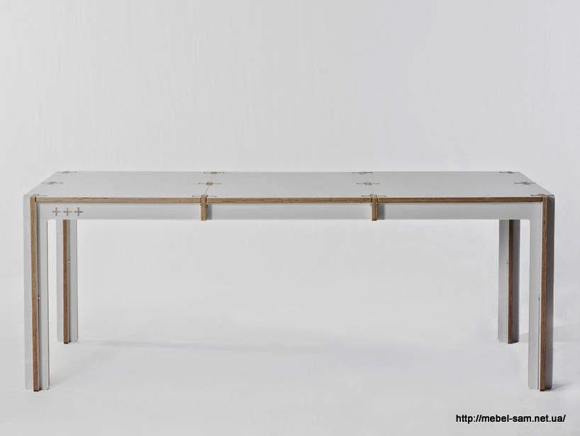Фанерный стол на восемь человек