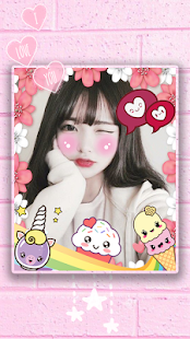 Blush: red cheeks, shy face, kawaii anime stickers Screenshot