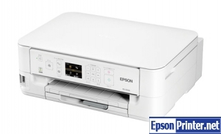 How to reset flashing lights for Epson PX-504A printer