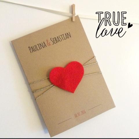 Składanka Zaproszenia Na Każdą Okazję True Love Zaproszenia