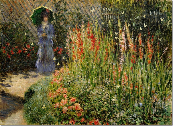 'Rounded Flower Bed (Corbeille de fleurs),' 1876, Claude Monet,