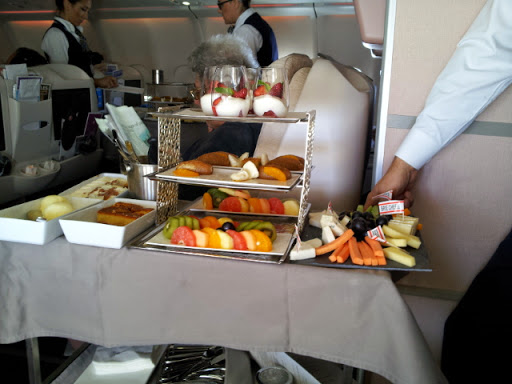 Dessert tray. From What's It Really Like to Fly Turkish Airlines Business Class?