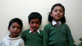 Ladakhi Kids in the school uniform