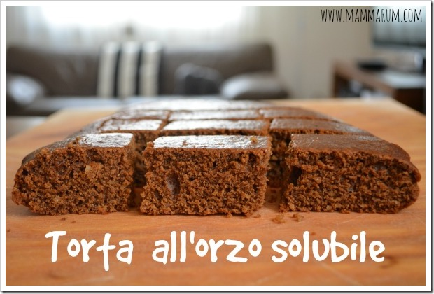 Torta all'orzo solubile