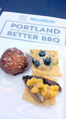 Grilled Portobello with Mango Salsa by Eastburn to accompany Food Should Taste Good The Works! Tortilla chips