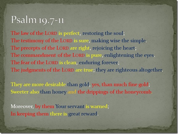 Psalm 19.7-11 parallel elements