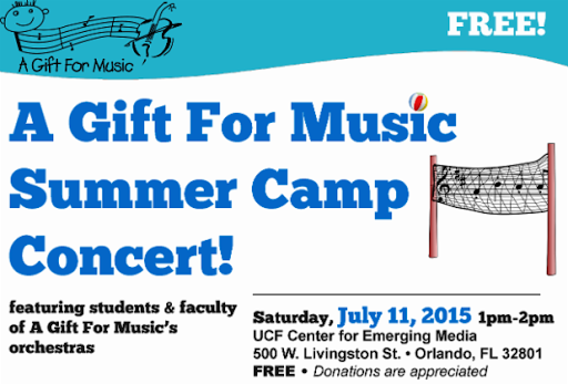 A Gift for Music FREE Camp Concert