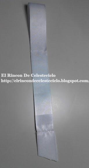 Coser cinta para formar corbata