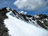 Photo: The final ridge push up to the summit.