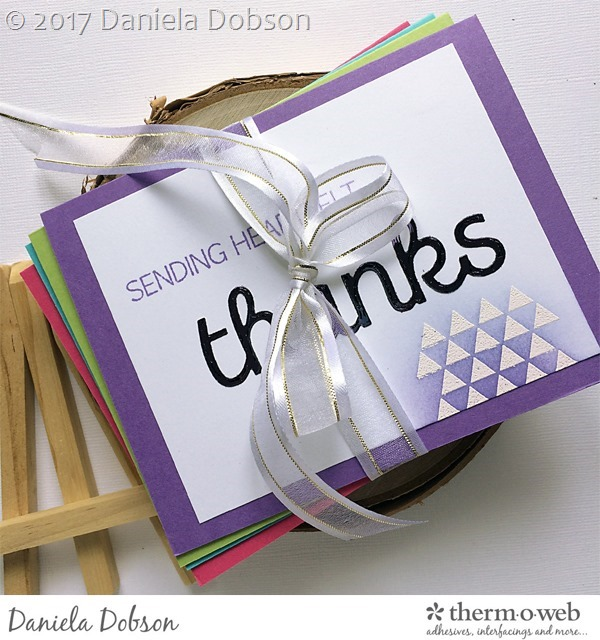 Thank you card set by Daniela Dobson