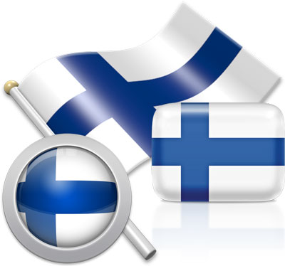 Finnish flag icons pictures collection