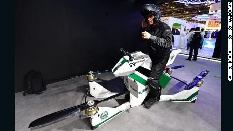 Dubai Police to begin using flying motorbikes