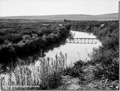 Jordan River with Sheikh Hussein bridge near Beth Shean, mat15248