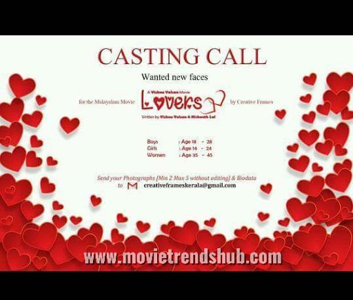 Casting call malayalam movie LOVERS - Movie trends