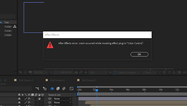 """crash occurred while invoking effects plug-in """"color control"""""""