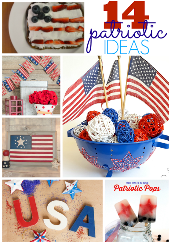14 Patriotic Ideas at GingerSnapCrafts.com #redwhiteandblue #4thofJuly