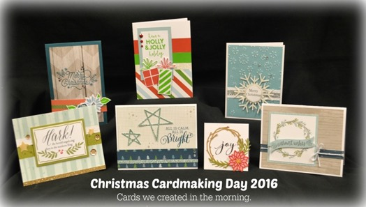 2016-9-24 Christmas Cardmaking Day - cards in morning DSC_2919