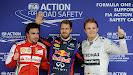 Top 3 qualifiers: 1. Vettel 2. Rosberg 3. Alonso
