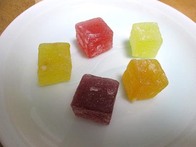 5種の果実の寒天もち