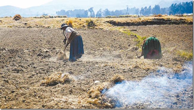 Sequía en el Titicaca