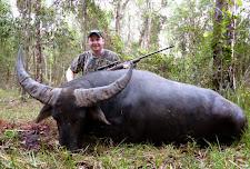Big bodied bull taken by US hunter Mr Myron Burke. Shot was taken at 20 yards in thick bush.