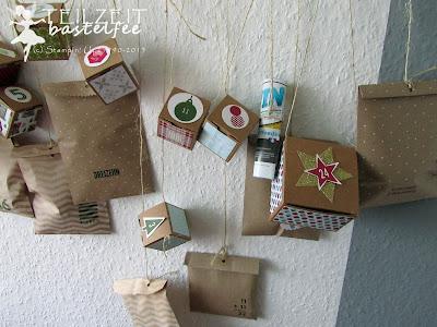 Stampin' Up! - Adventskalender, advent calendar, box, Tüte, bag, 25 and counting, 24 TürchenbearbeitenBildunterschrift löschen