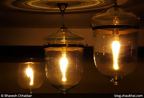 Decorative lamps of Savya Rasa [Koregaon Park, Pune]