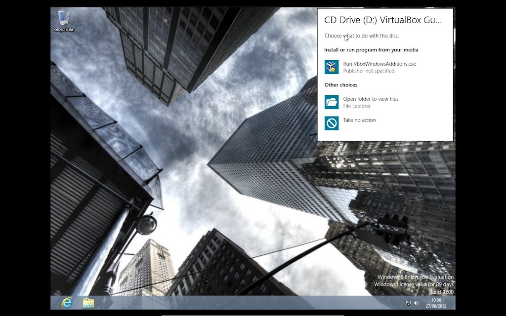 VirtualBox Guest Additions Install for Windows 8 RTM