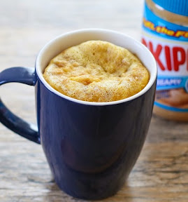 photo of a peanut butter mug cake