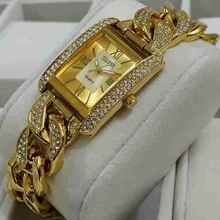 jam tangan Guess 1kepang segi gold