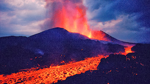 Kimanura Volcano Erupting, Virunga National Park, Democratic Republic of the Congo.jpg