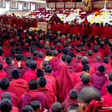 Massive religious gathering and enthronement of Dalai Lama's portrait in Lithang, Tibet. - l69-1.JPG