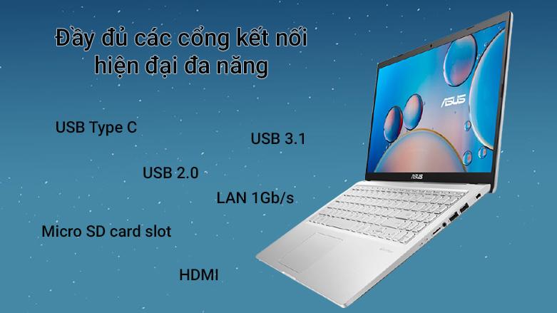 Laptop ASUS Vivobook X515EP- EJ006T | Đầy đủ các cổng kết nối