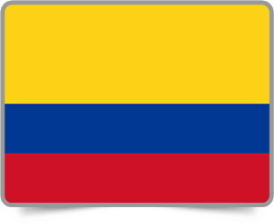 Colombian framed flag icons with box shadow