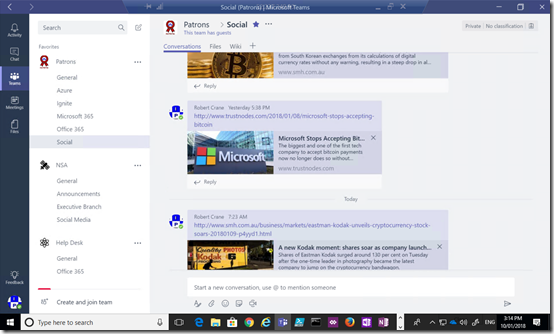 Location of chat history in Microsoft Teams – CIAOPS