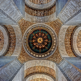 Rotunda by Christopher Pischel - Buildings & Architecture Other Interior ( state capitol, interior, hdr, ceiling, vaulted, rotunda, architecture )