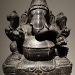Ganesa. Tamil Nadu. 15e - 16e s. Granit. MG 17811.