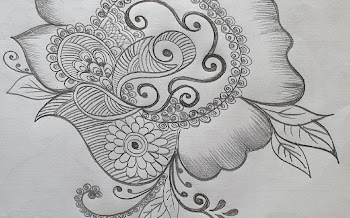 Simple Peacock Flower Motif Designs for Tattoo and Body Art