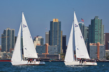 J/105s sailing off San Diego waterfront