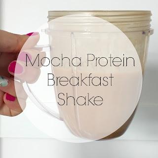 Mocha Protein Breakfast Shake.