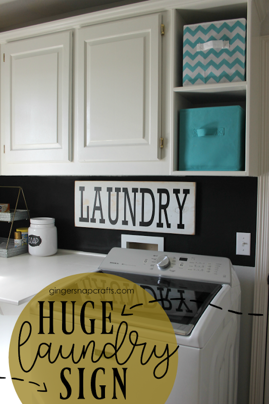 huge laundry room sign at GingerSnapCrafts.com #madewithCricut #cricutmade