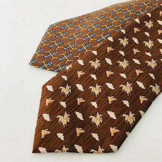 Hermès Brown Tie Pair
