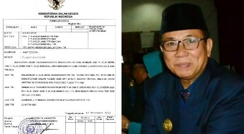 Mendadak Keluarkan Radiogram, Mendagri Tito Besok Lantik Pj Gubernur Sumbar, Alwis Akhiri Tugas Sebagai Plh