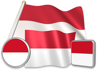 Indonesian flag animated gif collection