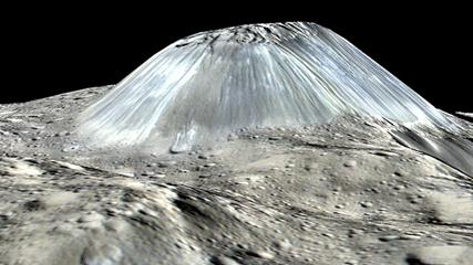 montanha Ahuna Mons no asteroide Ceres