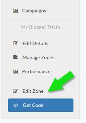Edit zone in AdClerks