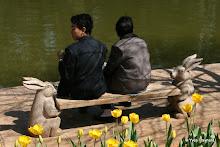 Cuihu Lake : jeunes gens
