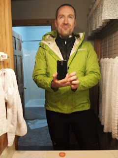 5:30 AM. Bundled for the cold start and descent from Idyllwild.